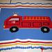 Firetruck with flashing light blanket pattern pattern