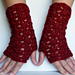 Lacy Scallops Fingerless Gloves pattern