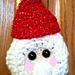 Santa Doorknob Hanger for Christmas pattern