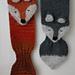 Fantastic Fox keyhole winter scarf pattern