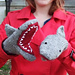 Deep Blue Sea: Shark Mittens pattern
