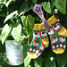Tiny Rooster and hen (baby socks) pattern