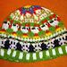 Cow farm kids beanie pattern