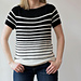 Black and White Tee pattern