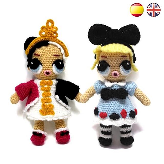 Crochet Pattern Mermaid Doll Lol inspired Amigurumi Doll | Etsy | 640x640