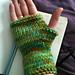 Bulky Fingerless Gloves on 2 Straights pattern