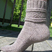 Herringbone Gansey Sock pattern