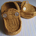 Little Loafers Baby Slippers pattern