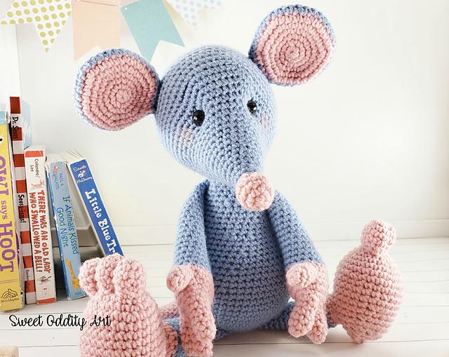 Amigurumi Baby Rat Free Pattern | Knitted toys free patterns ... | 509x640