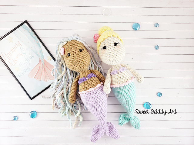 Free Mermaid Crochet Pattern - Red Ted Art - Make crafting with ... | 480x640