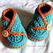 Baby High Top Kimono Booties pattern