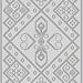 Agra Stole pattern