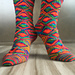 Diamondback Socks pattern