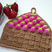 Strawberry Basket Tunisian Dishcloth pattern