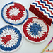 Stars & Stripes & Clusters Mini Mandala pattern