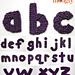 Moogly Lowercase Alphabet pattern