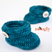 Ups and Downs Toddler Booties pattern