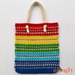 Knotted Rainbow Tote Bag pattern
