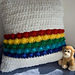 Rainbow in the Clouds Pillow pattern