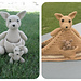 Kangaroo with a Joey & Kangaroo Blanket pattern