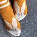 Frühlingssocken mit Hase - Spring Socks with Bunny pattern