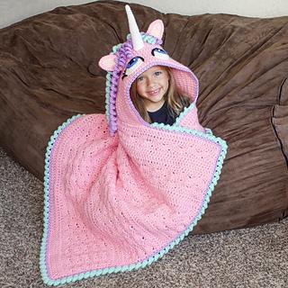Ravelry: Hooded Unicorn Blanket pattern