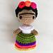 Frida Kahlo Mini Doll pattern