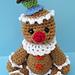 Cute Gingerbread Man pattern