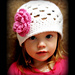 Spring Fling Beanie with 3 Layer Flower pattern