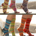 106-23 Basic socks with two different heels pattern