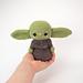 Baby Yoda-Inspired Fan Art pattern