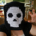 Manly Skull Scarf pattern