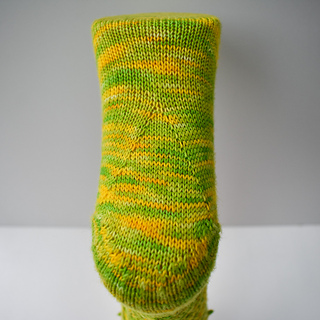 gusset increases at the bottom of the foot