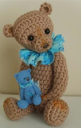 Crochet Pattern For Antique Classic Teddy Bear