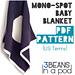 Mono-Spot Baby Blanket (U.S. Terms) pattern