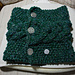 Seeded Horse Shoe Cable Neckwarmer  pattern
