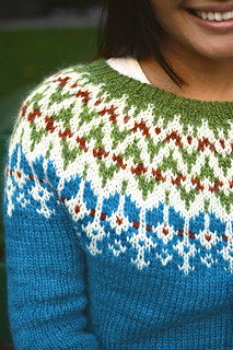 Additional color in yoke not included in pattern.