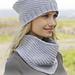 156-21 Lavender Frost Neck Warmer pattern