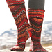 114-12 Socks with zigzag pattern pattern