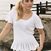 120-23 Top with flounce in lace pattern pattern