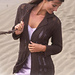 95-12 Long jacket with pattern pattern