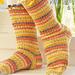 0-552 Short Easter socks with rib pattern