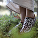 Toffeln skogsstjärna - Arctic starflower slippers pattern