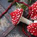 Christmas toadstool pattern