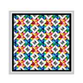 This is a mockup done with Photoshop so you can see how the pattern unfolds.