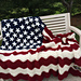 Wavy American Flag pattern
