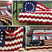 Colonial/Betsy Ross Wavy American Flag pattern