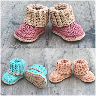Ravelry: Cuffed Baby Booties pattern by