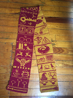 ravelry harry potter double knit scarf pattern by karen pritchard harry potter double knit scarf pattern