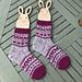 Hugs and Kisses Socks pattern